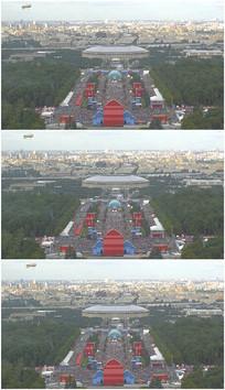 奥体中心远眺飞艇实拍视频