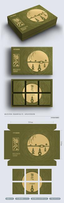 创意西湖高端中秋月饼包装礼盒