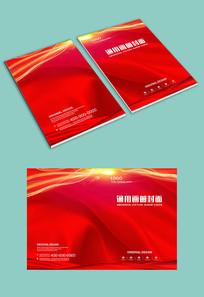 大气红色丝绸封面设计
