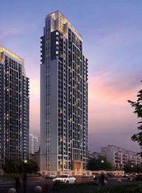 高层住宅楼透视图 JPG