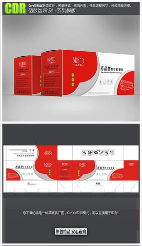 红色简约硒鼓彩盒包装模板 CDR
