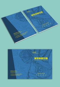 蓝色篮球运动封面设计