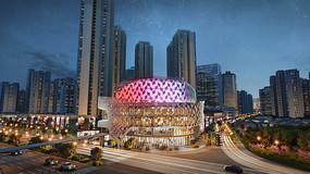 上海某商住楼建筑效果图