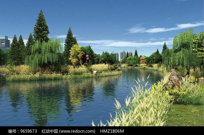 生态景观节点效果图图片