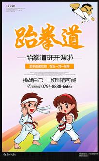 唯美跆拳道招生宣传海报