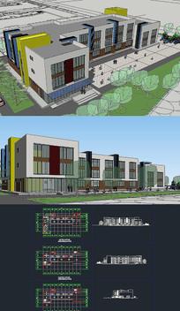 幼教中心SU模型含CAD图