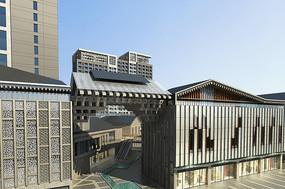 中式大门建筑效果图
