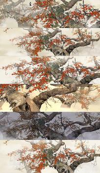 4k水墨中国风宽屏舞台背景