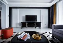 复古元素室内电视墙