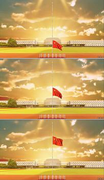 日出学校升旗视频