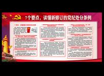 新修订的党纪律处分条例展板