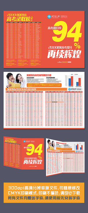 中考高考招生折页