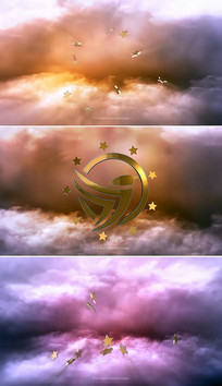 大气金色3d电影标志片头模板