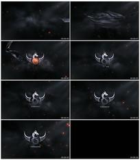 黑暗绸带Logo动画AE模板