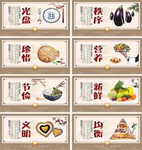 校园食堂文化宣传展板设计