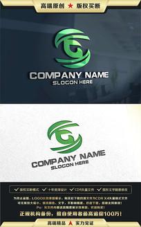 G字母绿色LOGO设计