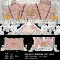 高档印花婚礼舞台背景