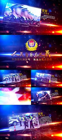 公安军警图文展示AE模板