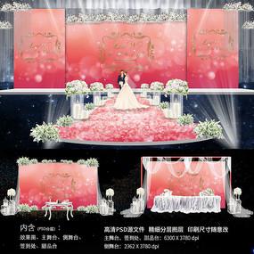 红色唯美婚礼背景