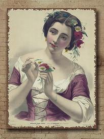 欧美怀旧复美女油画
