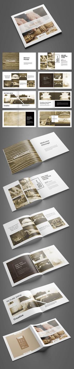 大气经典欧式家具画册设计模板