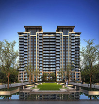 高层住宅建筑立面效果图 JPG