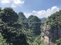 高山吊桥景观