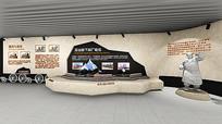 火车展示台雕塑效果图