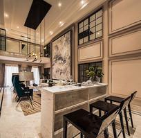 家居设计复式客厅效果图