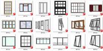 家装工装 窗户推开窗 滑动窗