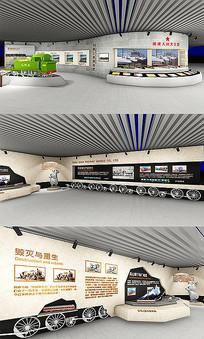 精美铁道交通火车展厅效果图