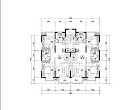 两室两厅小户型平面图