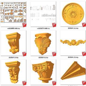 欧式雕花罗马柱欧式造型截面