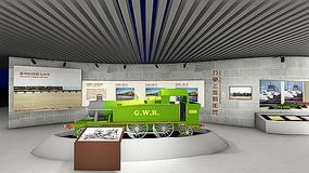 蒸汽机车火车模型展厅
