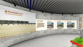 中国铁路火车展示墙效果图