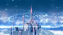 3D绚丽城堡冰雪世界童话片头