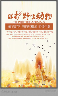 保护动物宣传海报