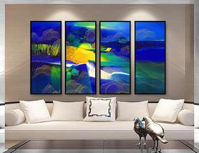 高清抽象装饰山水画