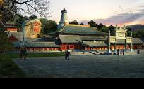 古典佛寺园林景观规划