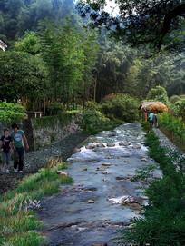 山区水系景观改造效果图