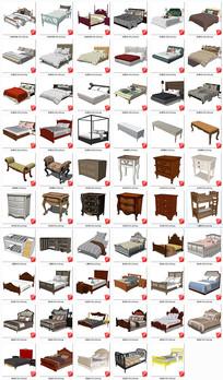 现代欧式卧室家具SU模型
