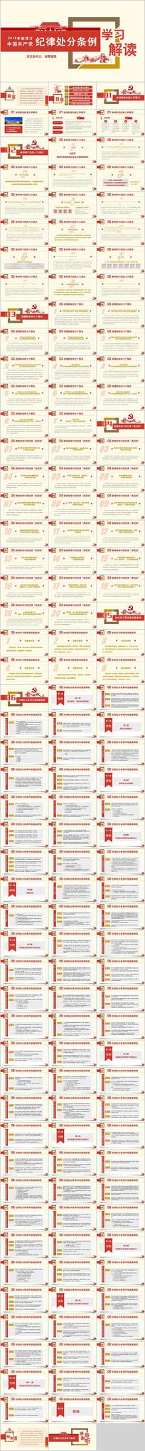 新修订纪律处分条例解读PPT