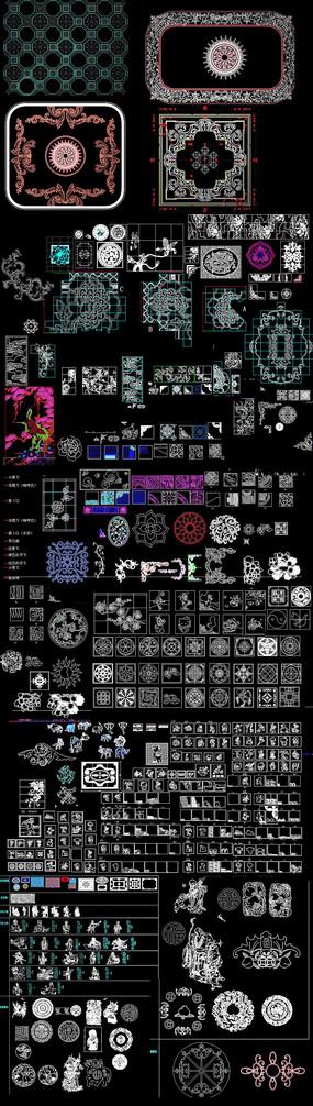 中式花纹CAD图库