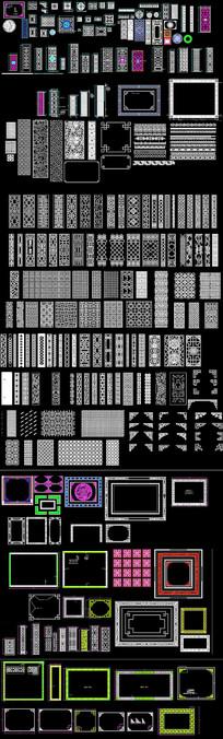 中式家具雕花CAD图库