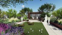 中式屋顶花园