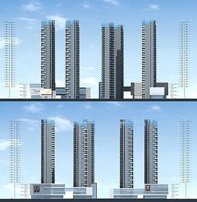 住宅高层建筑立面