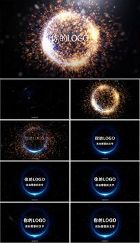 大气炫酷粒子爆炸特效标志开场视频