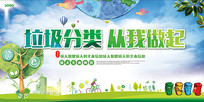 共建绿色城市保护环境公益展板