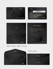 黑色中国风会员卡设计