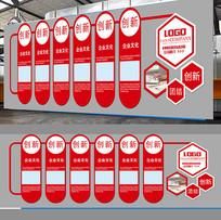 红色最新企业文化墙画